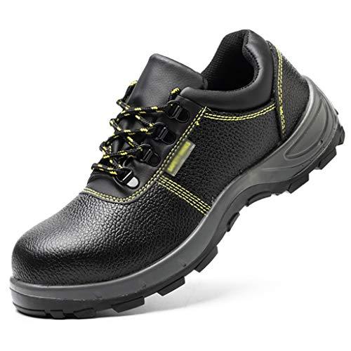 Zapatos de Trabajo Zapatos de Seguridad para Hombre Toe Toe Trabajo Trabajo DE Cuero A Prueba de Agua Zapatillas de Trabajo Mujeres Mujeres Transpirables Zapatillas industriales