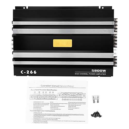 Yctze Universal 12V 5800W amplificador de audio estéreo para automóvil, amplificadores mono de alta potencia de 4 canales para camión