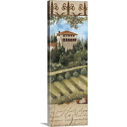 """Tuscany Villa II Canvas Wall Art Print, 12""""x36""""x1.25"""""""