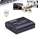 ZHANGRONG Tarjeta De Captura HDMI Captura De Juegos HDMI USB 2.0 De Alta Velocidad Conecta Y Reproduce Baja Latencia para Grabación De Juegos, Grabación De Conferencias, Transmisión En Tiempo Real