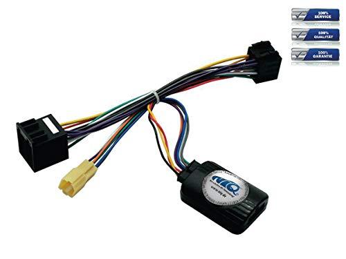 NIQ Lenkradfernbedienungsadapter geeignet für JVC Autoradios, kompatibel mit Renault Clio / Kangoo / Laguna II / Megane / Modus / Scenic / Trafic Bj. bis 2005