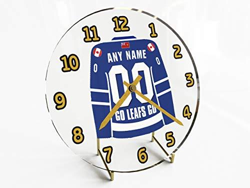 NHL-NATIONAL HOCKEY LEAGUE-EST-CONFERENZA ATLANTIC DIVISIONE JERSEY OROLOGI DA TAVOLO, QUALSIASI NOME, QUALSIASI NUMERO, QUALSIASI TEAM, PERSONALIZZAZIONE!, donna Uomo Bambino, Toronto Maple Leafs