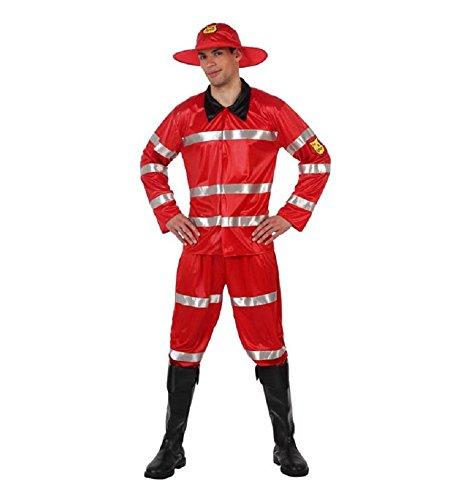 Atosa - Disfraz de bombero para hombre, talla L (M/L) (70237)