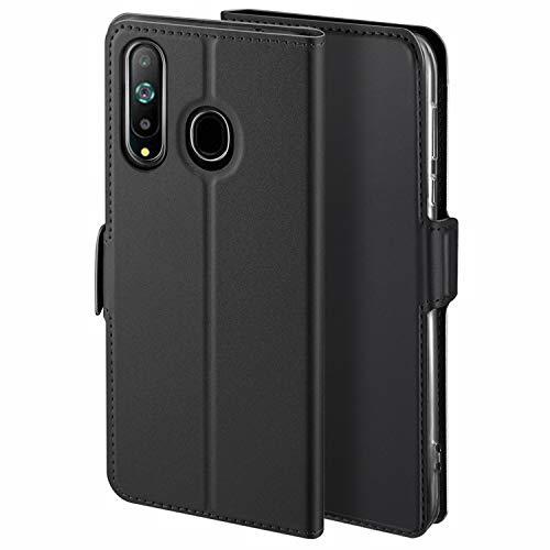 HoneyHülle für Handyhülle Samsung Galaxy A8S Hülle Premium Leder Flip Schutzhülle für Samsung Galaxy A8S Tasche, Schwarz