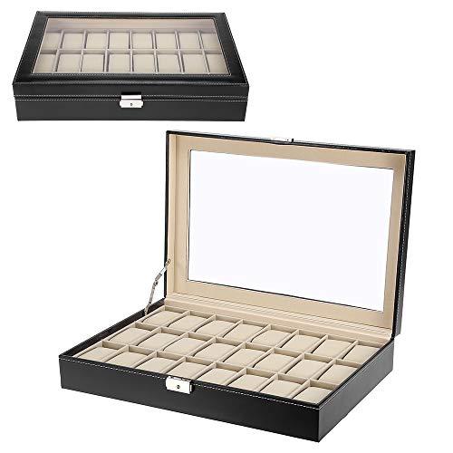ZOGIN Caja de almacenamiento con soportes para almohadas (Joyero) 24 la red Negro
