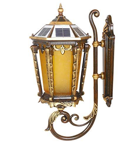 WYDM Lámpara De Pared,Apliques De Pared Impermeable para Exteriores Lámpara De Pared Solar, Interruptor De Sensor De Fuente De Luz Inteligente, Adecuado para Pasillo De Jardín De Garaje De Villa.LED