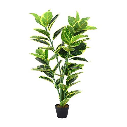 INMOZATA Artificial Ficus Tree Fiddle Fig Plant Decorative Plants in Pot...
