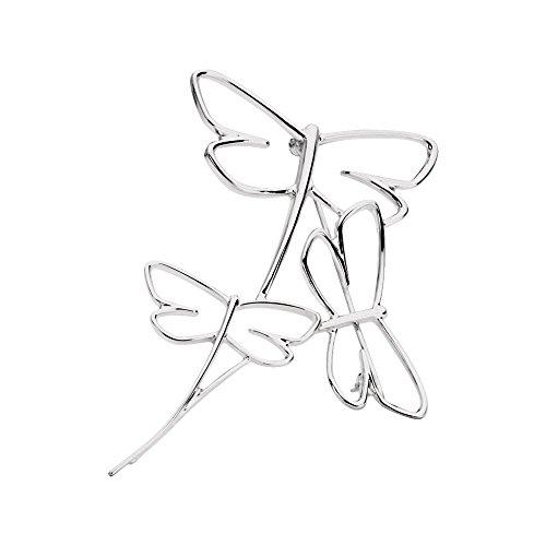 JewelryWeb - Broche de Plata de Ley con diseño de libélula Pulida