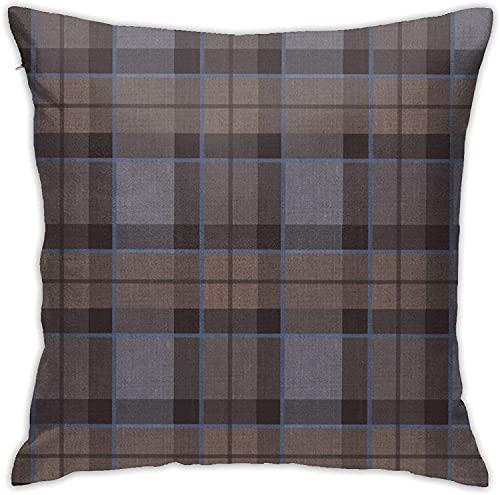 Outlander Fraser Tartan Plaid Almohada de Tela más pequeña Cuadrada Decorativa Sofá Coche Funda de Almohada para el hogar 18 'X 18' Pulgadas