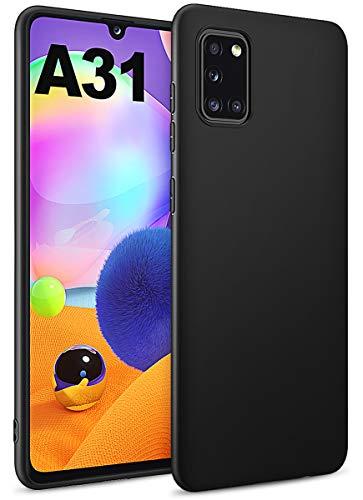 BENNALD Hülle für Samsung Galaxy A31 Hülle, Soft Schutzhülle Hülle Cover - Premium TPU Tasche Handyhülle für Samsung Galaxy A31 (Schwarz,Black)