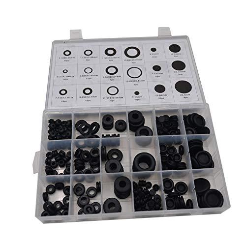 250PCS / Set Gummitülle Firewall-Loch-Stecker Elektrischer Draht Dichtung Sortimente Kit Zylinderventil-Wasser-Pip-Dichtungs-