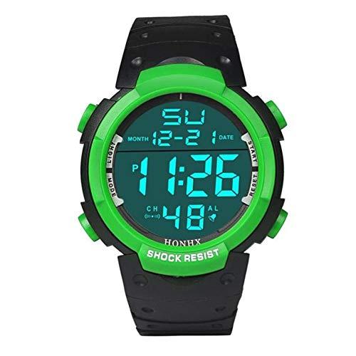 Lujo de la Marca for Hombre del Reloj de los Deportes de Buceo 50m Digital LED Militar Reloj de los Hombres Ocasionales de la Manera Reloj Reloj Caliente Electrónica (Color : Verde)