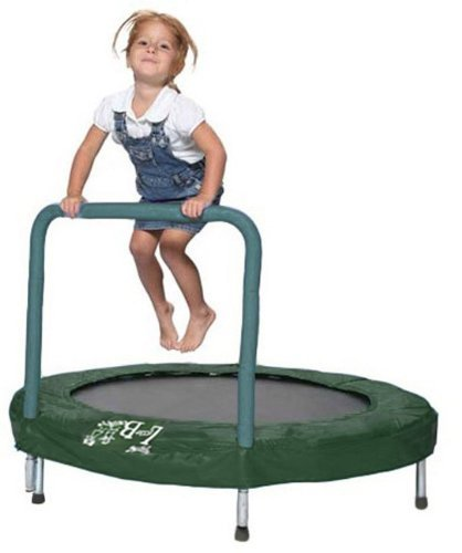 Learn More About Trampoline - 48 Trampoline Bouncer with Easy Hold Handle Bar By Bazoongi - Green