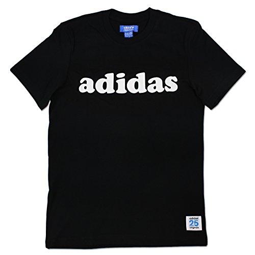 adidas Originals NIGO Bear LINEAR Superstar Tee Herren T-Shirt BÄR SCHWARZ Weiss, Farbe:Schwarz, Größe:XS