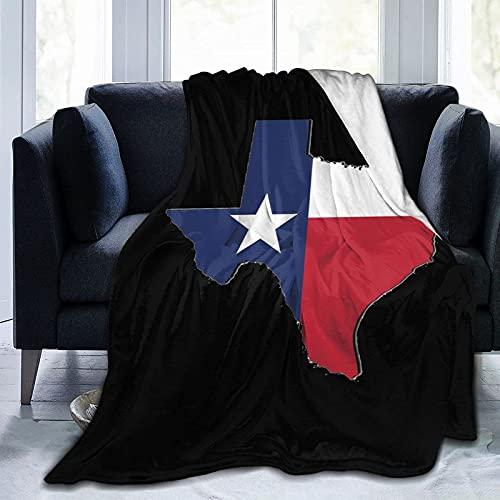Map of Texas Bandanas Super Soft Microfleece Blanket Sofa Flannel Blanket Bedding