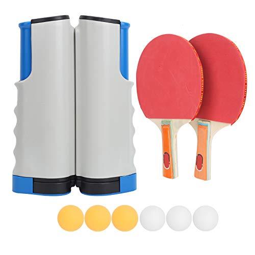 BOTEGRA Juego de Tenis de Mesa, la Herramienta de Entrenamiento de Tenis de Mesa no se deslizará Fácil de Instalar Material ABS para Juegos al Aire Libre
