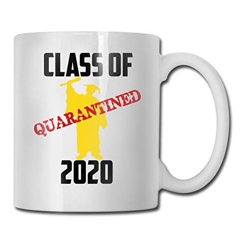 antspuent Class of 2020 Quarantined Graduation Senior Personalized Coffee Mug Gifts- Gifts for Women, Gifts for Kids, Birthday Gifts, Monogram Novelty Mug, Great Gift Idea