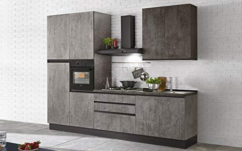 Dafnedesign Full Kitchen - Left Side Cm. 300X60X240H