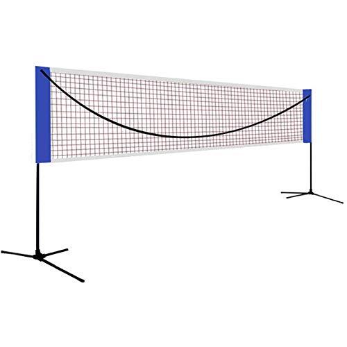 Cushion Red De Tenis De Duradera Y Anticorrosiva De Rápido Montaje/desmontaje, Red De Tenis De Portátil con Bolsa De Transporte Duradera, para Tenis Al Aire Libre O En Interiores O Bádminton