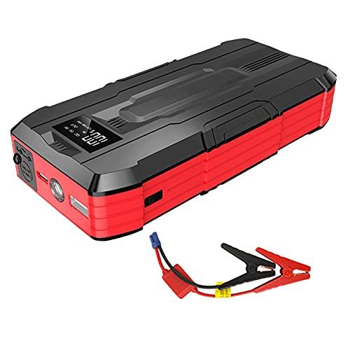 KaiLangDe 600A 11000mAh Arrancador Emergencia automóvil Amplificador batería Emergencia Herramienta eléctrica portátil Exteriores 6.0L Gasolina 3.0L Motor Diesel Cargadores USB 12V LED (Color : Red)