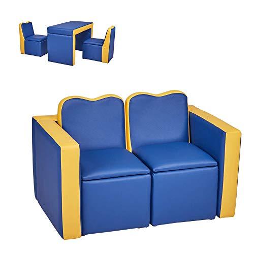 Kids Leather Sofa Armchair Compa...