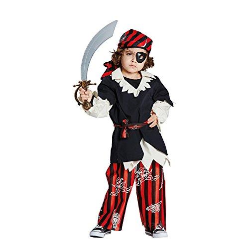 Rubies 12846-128 Rubies piraat jongens kinderen kostuum carnaval verkleden: maat: 128, Multi-Colored