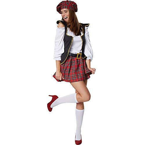 dressforfun 900421 - Damenkostüm Schotten-Girl, Sexy Schottin im kurzem Webkaro-Rock (XL | Nr. 302068)