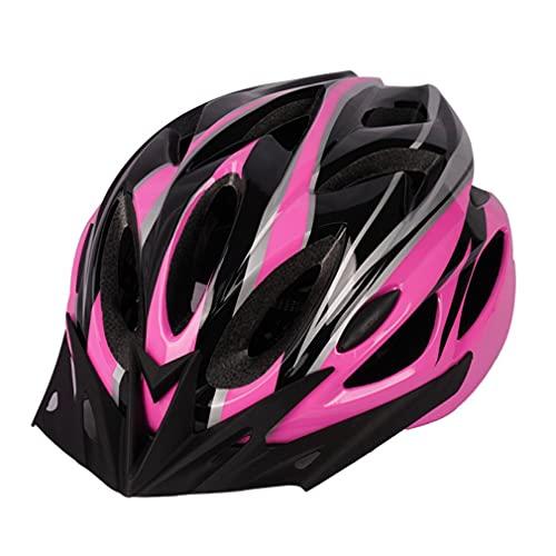 SeniorMar-UK Leichter Motorradhelm Rennrad Fahrradhelm Herren Damen Für Fahrradfahren Sicherheit Erwachsene Fahrradhelm Fahrrad MTB Helm rosa und schwarz