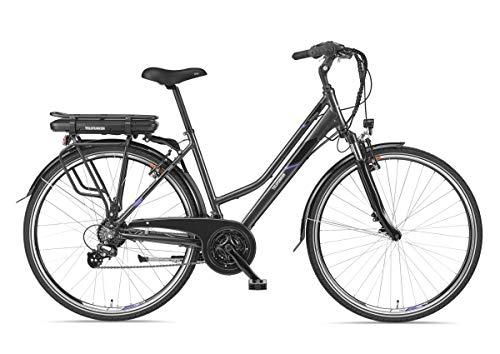 Telefunken E-Bike Damen Elektrofahrrad Alu 28 Zoll mit 21-Gang Shimano Altus Kettenschaltung, Pedelec Trekkingrad mit Hinterrad-Motor 250W 10,4Ah, 36V Akku, XT480 Expedition