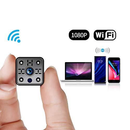 FREDI 【新版】超小型WiFi隠しカメラ 1080P超高画質防犯カメラ監視カメラ WiFi対応スパイカメラ 4分割画面...