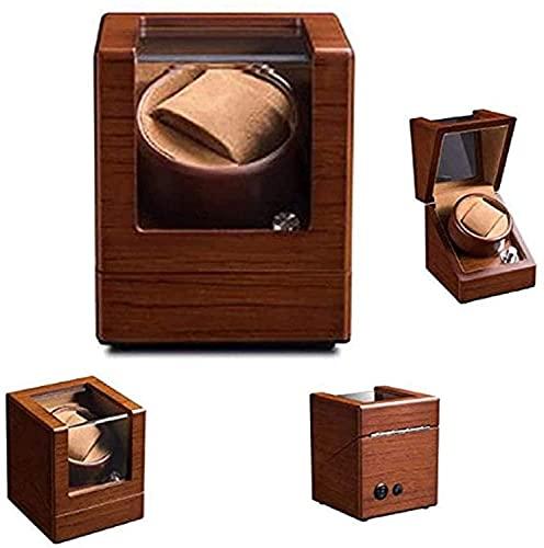 PLMOKN Rayadero de Winder de un Solo Reloj Rinder automático con sinilers Reloj de Motor Tranquilo a Prueba de Polvo (Color : Brown, Size : Small)