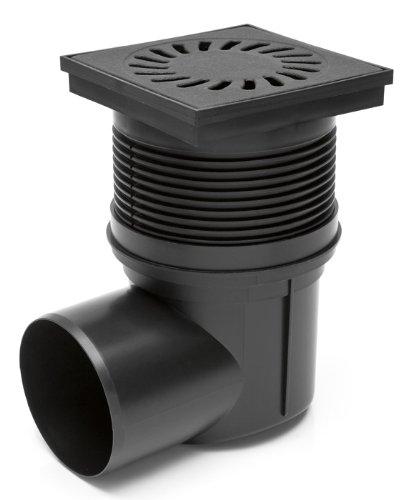 Hofablauf Carport DN 110 Gußeisen Rost befahrbar Entwässerung