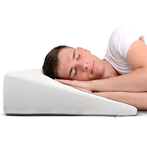 DYNMC you Keilkissen Bett Reflux 60cm Matratzenkeil mit Baumwollbezug Oeko Tex 100 - Reflux Kissen für Bequemes & Gesundes Schlafen - Lesekissen Bettkeil