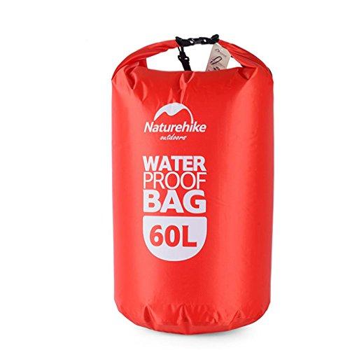 TRRE Voyage en plein air sacs étanches sac dérivantes snorkeling plage natation sac, 5L / 20L / 60L ( Couleur : Rouge , taille : 60 l )