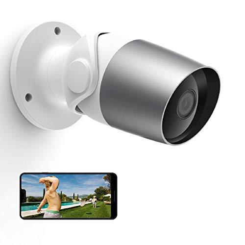Outdoor Security Camera, WiFi IP Cameras Indoor, Outside, O1 Home Surveillance Camera Compatible with Alexa, IP65 Waterproof, Night Vision, 2 Way Audio,1080P Video, APP Remote Access