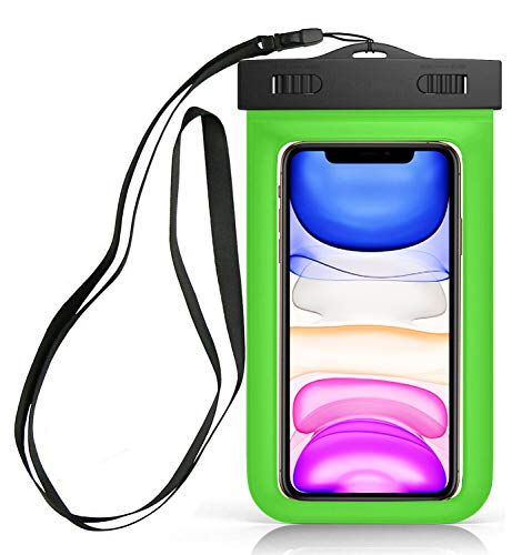 Sovica wasserdichte Tasche kompatibel mit BQ Aquaris C handyhülle IPX8-Zertifikat unterwassergehäuse hülle Handytasche (Grün)