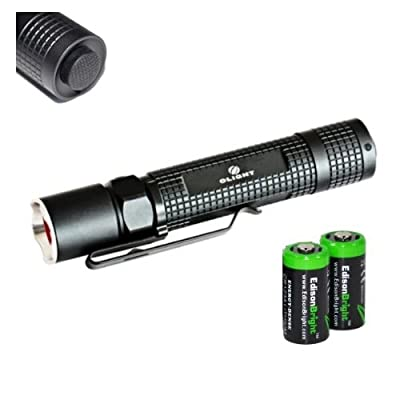 EdisonBright Olight M18 Maverick Cree XM-L2 500 Lumens tactical LED Flashlight with two CR123A Lithium Batteries