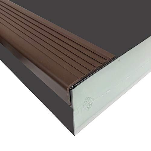 Ranget rutschfeste Treppenkante PVC-Treppenkante, Selbstklebender Treppenstreifen, breitseitiges Design-Treppenprofil für Treppen im Innen- und Außenbereich