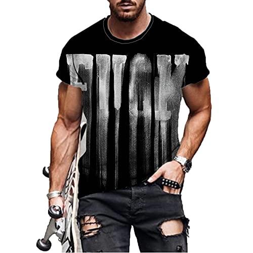 SSBZYES Camiseta para Hombre Camiseta De Verano De Gran Tamaño para Hombre Camiseta De Manga Corta Camiseta De Manga Corta con Cuello Redondo Y Estampado Simple Informal De Moda