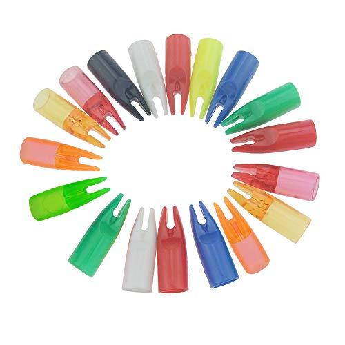 AMEYXGS 100 Stück Bogenschießen Pfeilnocken Kunststoffnocken Pfeilschwanz für 8mm Pfeilschaft (Transparentes Rot)