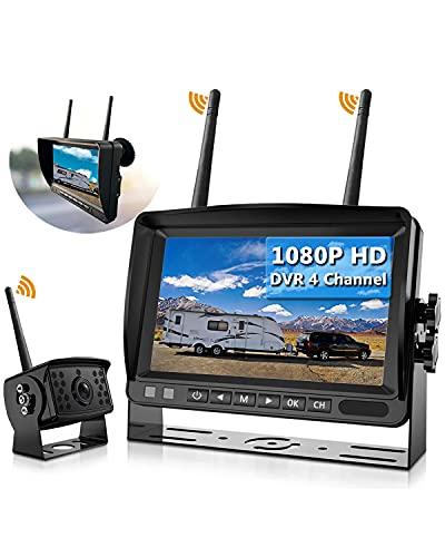 Wireless Backup Camera, DOUXURY IP69 Waterproof 170° Wide View Angle...