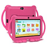 Xgody Kids Tablets,Kids Edition Tablet 7 Inch HD,Parental Control,Android 8.1 GMS,16GB,Quad Core,Pink Kid-Proof