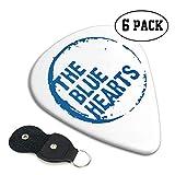 ザ·ブルーハーツ ギターピック 6枚/セット ウクレレ エレキギター 3種厚さ プリントデザイン 大人気 目立ち バリ無し 尖らず
