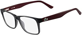 Óculos Lacoste L2741 035 Cinza Translúcido Vinho Lente Tam 53