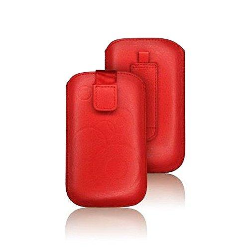 tag-24 Schutzhülle Slider Deko Etui Handytasche Cover passend für KAZAM LIFE B1 Farbe rot