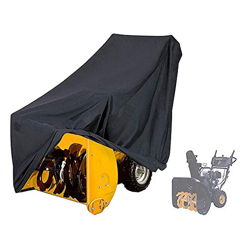 """Snow Blower Cover, 600D Heavy Duty Waterproof Breathable Oxford Fabric Snow Thrower Cover, Universal Size for Most Electric Two-Stage Snow Blowers, Indoor/Outdoor (65"""" L x 33"""" H x 45"""" W) - Black"""