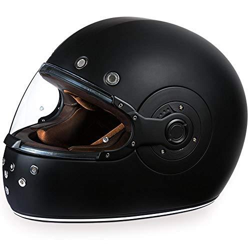 Daytona Helmets Motorcycle Full Face Helmet Retro- Dull Black W/Dull Black Accents 100% DOT Approved