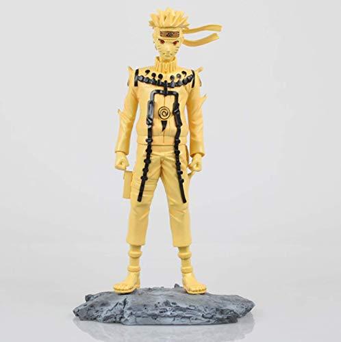 Ltong 10' 25cm Figura de acción El modo Kyubi Anime Naruto Uzumaki Naruto de oro de PVC Colección modelo de juguete jianyou