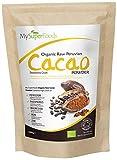 Cacao Orgánico Crudo en Polvo 500g, Fuente Natural de Potasio, por MySuperfoods