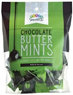 Party Sweets Dark Chocolate Buttermints by Hospitality Mints, Individually Wrapped, 4.7-ounce Bag, Pack of 6 (approx. 230 ct)